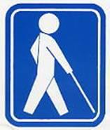 視覚障害者の国際シンボルマーク(内閣府の関係ページへ)
